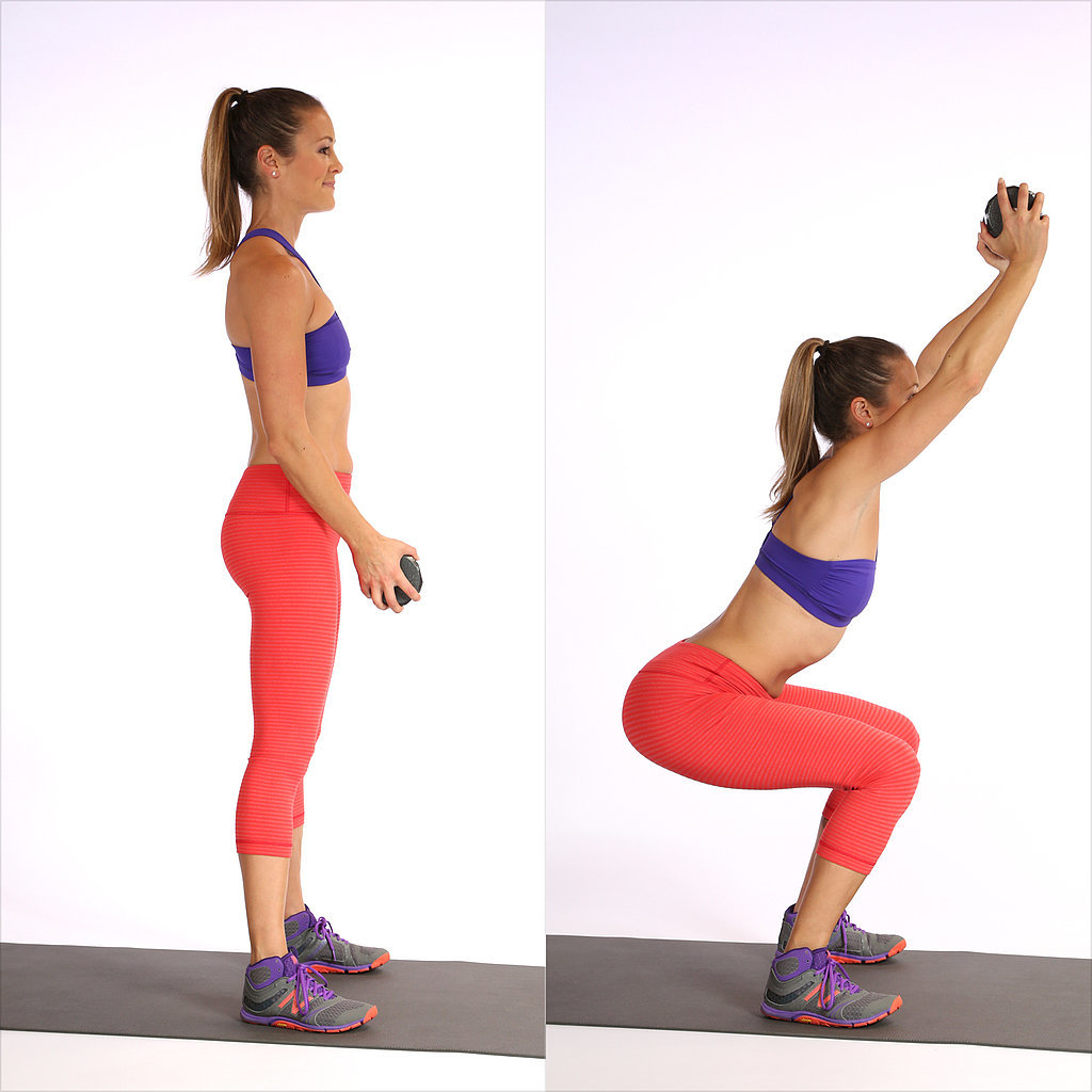 Deep Squat With Overhead Reach