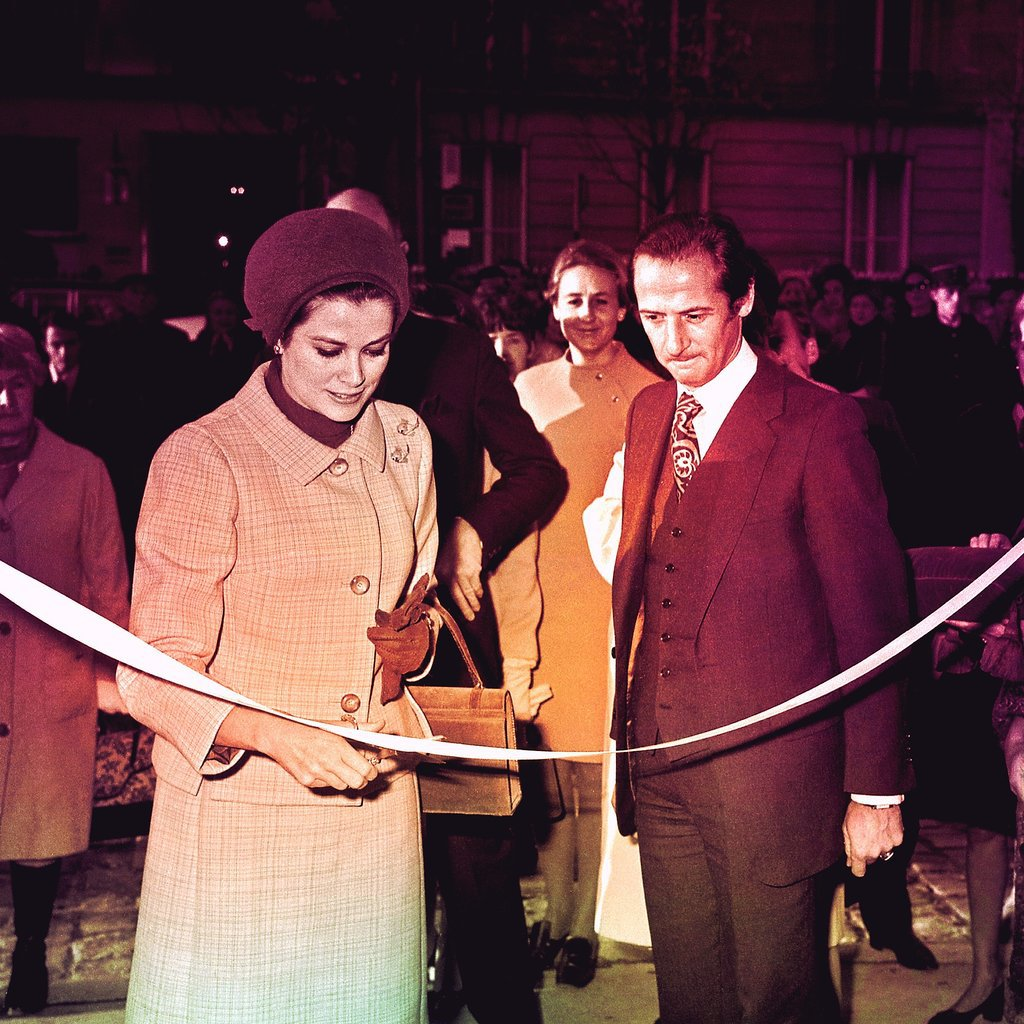 Inaugurating the Paris Dior Boutique in 1967