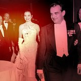 Arriving With Prince Rainier at a Waldorf-Astoria Ball in 1956