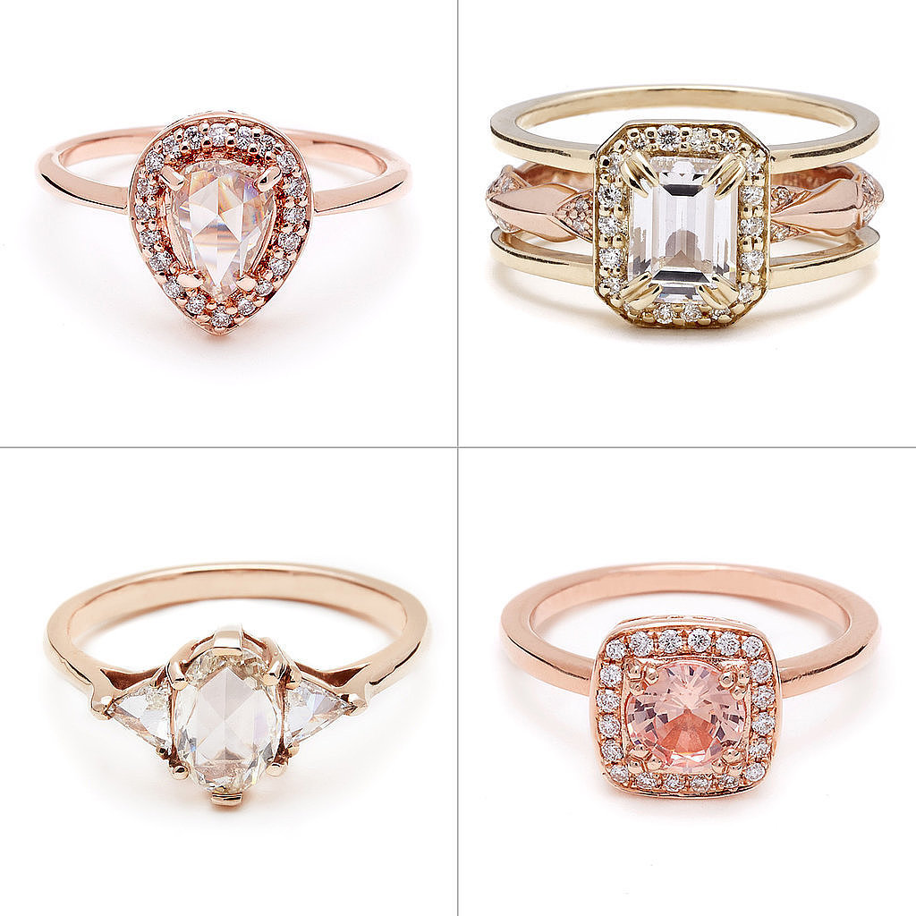 Whether you're shopping for your forever ring or simply want some eye candy, scroll through to see the beautiful rose gold pieces we'd happily wear as a bride or, you know, an everyday girl. Source: Anna Sheffield