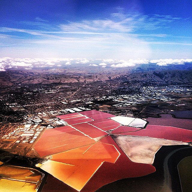 "Jared showed off the ""view of Silicon Valley from my plane.""  Source: Instagram user jaredleto"