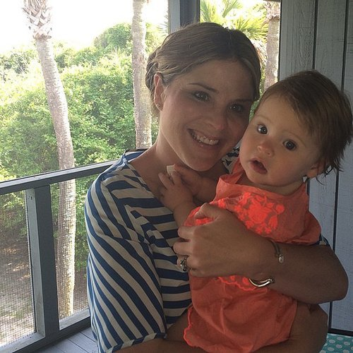 """Jenna Bush Hager celebrated her first Mother's Day with her """"duck,"""" Mila. Source: Instagram user jennabhager"""