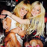 Dina and Lindsay Lohan were all smiles in the actress's Mother's Day snap.  Source: Instagram user lindsaylohan