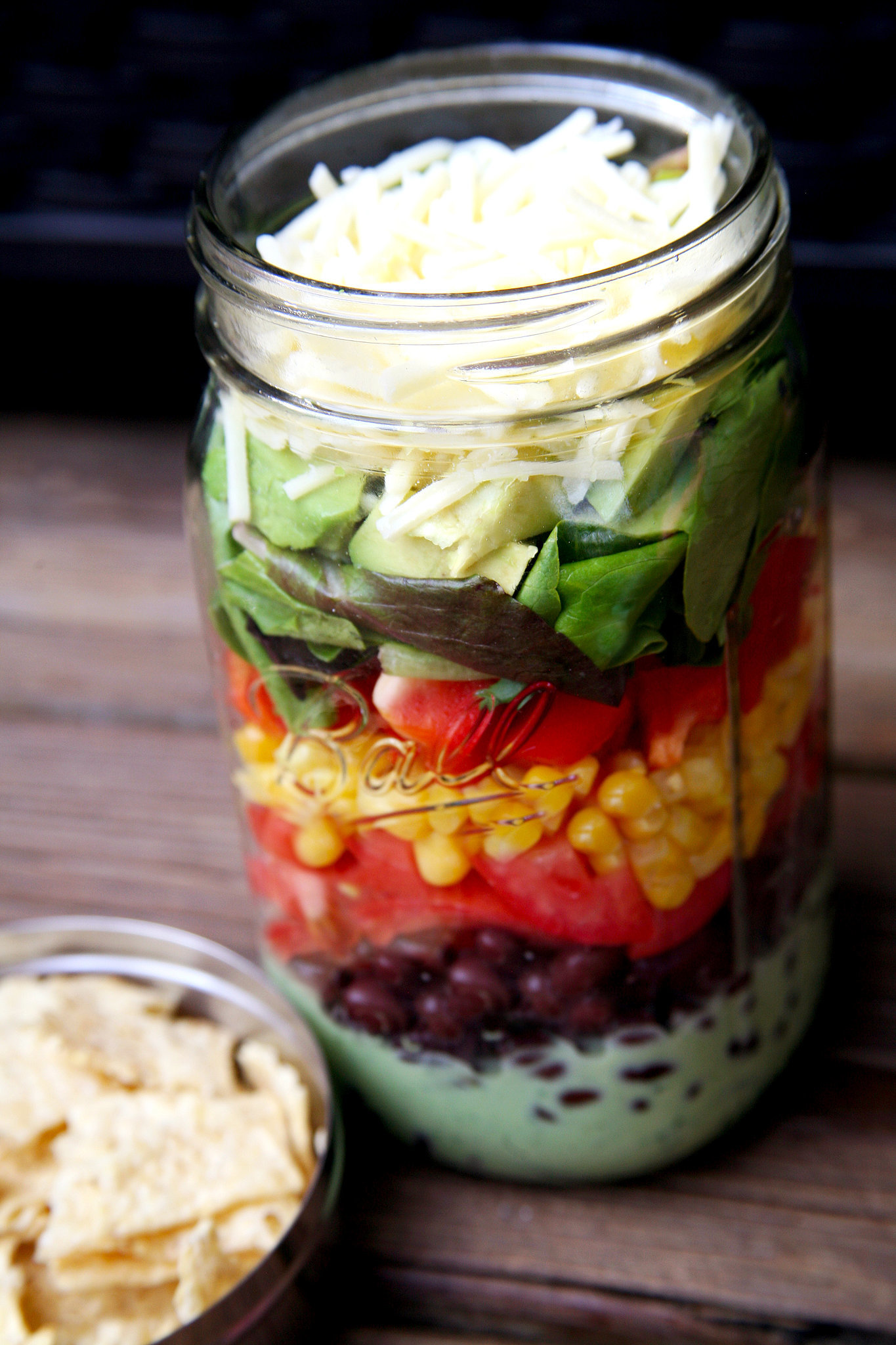 Vegetarian Mexican Recipe: Taco Salad In a Jar | POPSUGAR Fitness ...