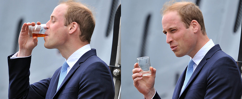 Prince William Drinks on the Job