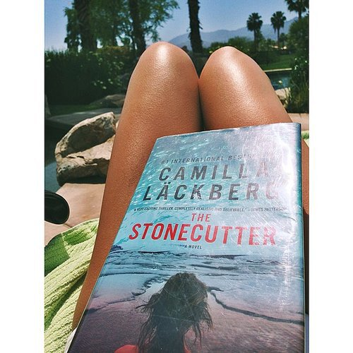 I shared my poolside reading on the POPSUGARLove Instagram. If you're a fan of Swedish thrillers, you should check out Camilla Läckberg's novels —they're fantastic.