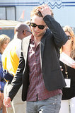 Rob gave his hair a last minute toss before taking his seat at the August 2009 Teen Choice Awards in LA.