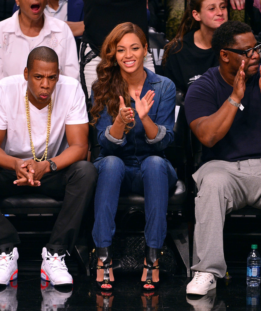 Jay Z And Beyonce Courtside 2013 Beyonc and jay z don t appearJay Z And Beyonce Performing 2013