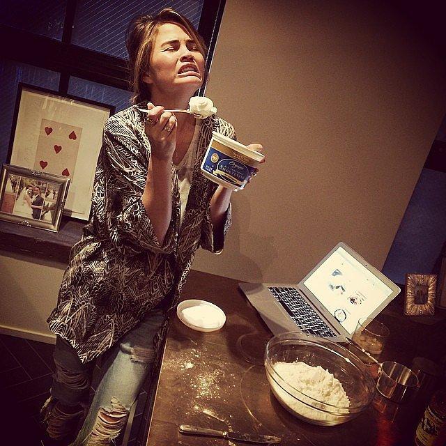 Chrissy Teigen baked a pie. Source: Instagram user chrissyteigen