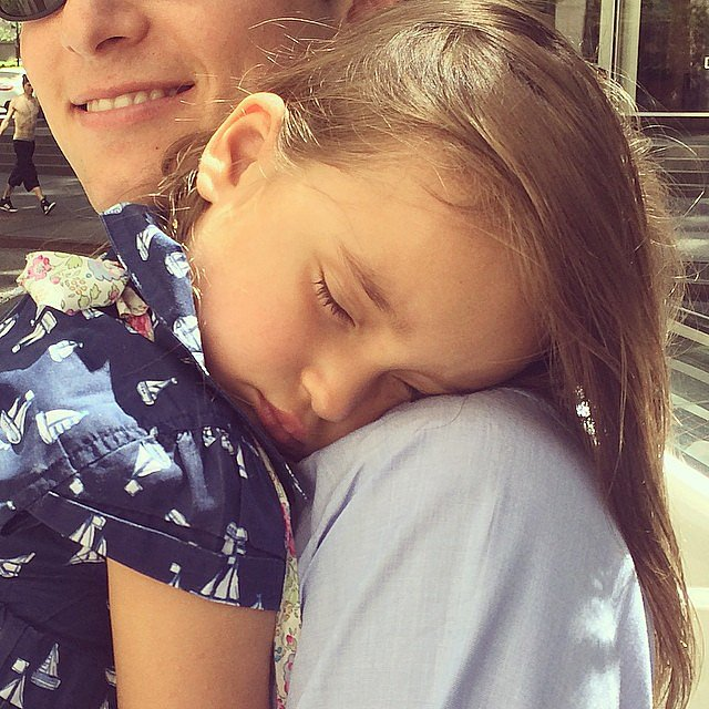 Arabella Kushner was knocked out by a day of activities with her mom, Ivanka Trump, and dad, Jared Kushner. Source: Instagram user ivankatrump