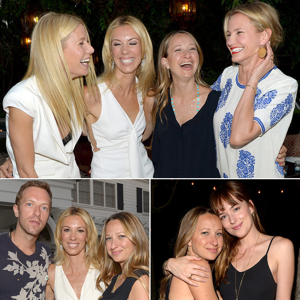 Chris Martin Gets in on Gwyneth Paltrow's Star-Studded Party