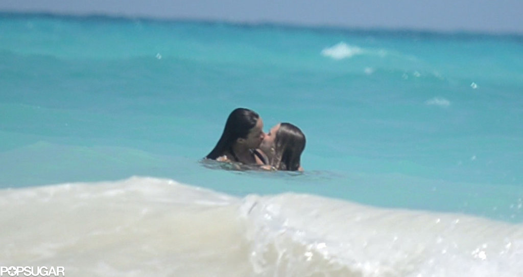 Michelle Rodriguez and Cara Delevingne made out — and went topless — in the waters of Cancun during their Mexican getaway in March 2014.