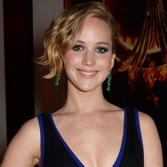 Jennifer Lawrence and Hunger Games Cast at Mockingjay Party