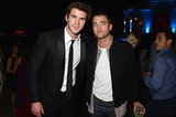 Robert hung out with Liam Hemsworth at the Vanity Fair party.