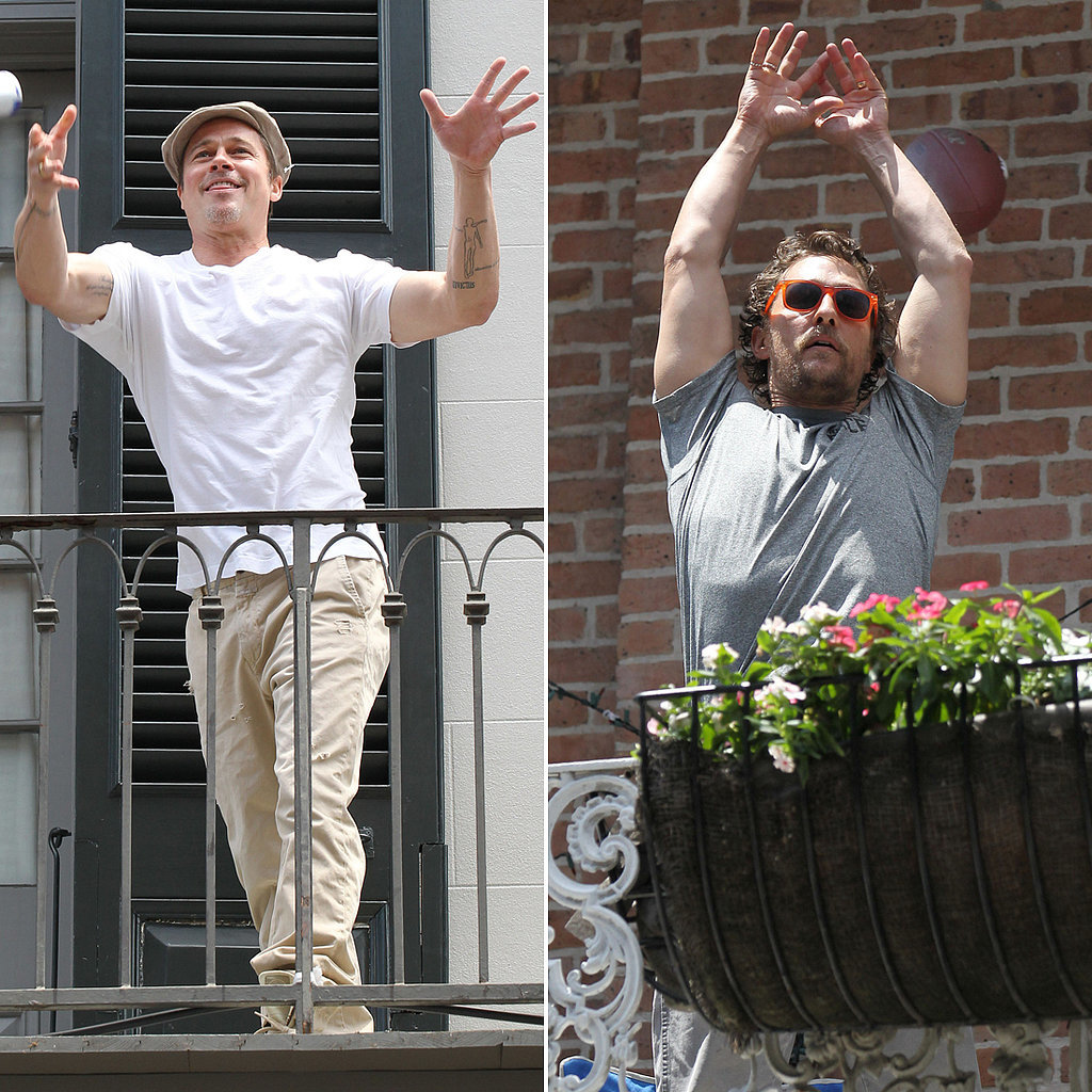 Brad Pitt and Matthew McConaughey Can't Contain Their Neighborly Love