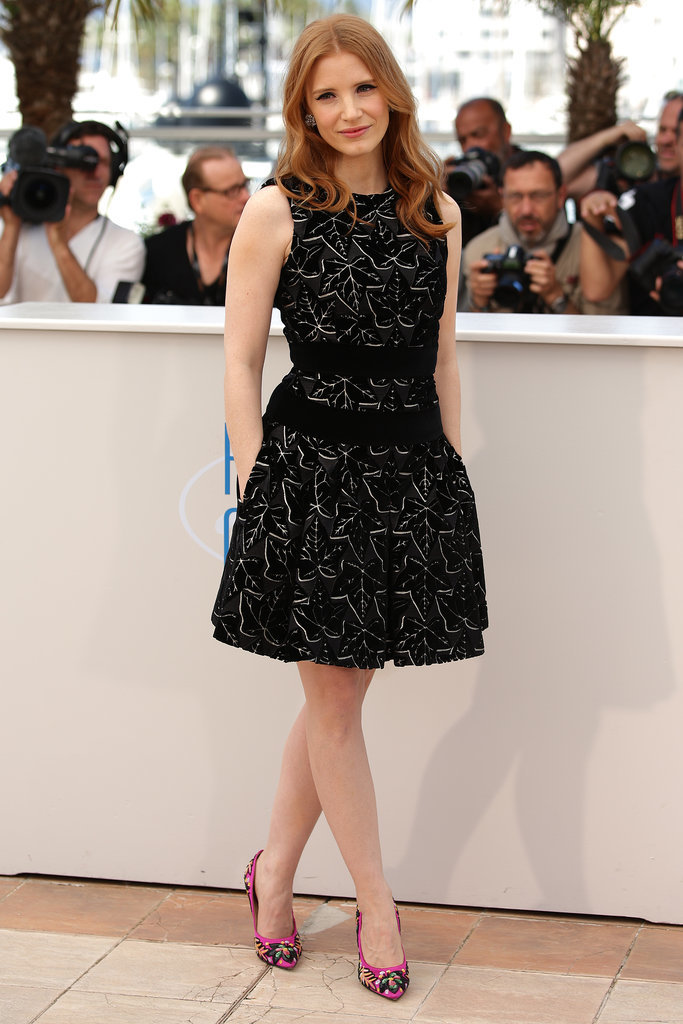 Jessica Chastain at a The Disappearance of Eleanor Rigby Photocall