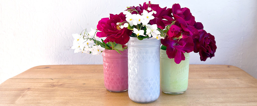 Paint Mason Jars For a Chic Upgrade