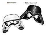 Represent the Empire's side with Darth Vader and Stormtrooper masks ($4).