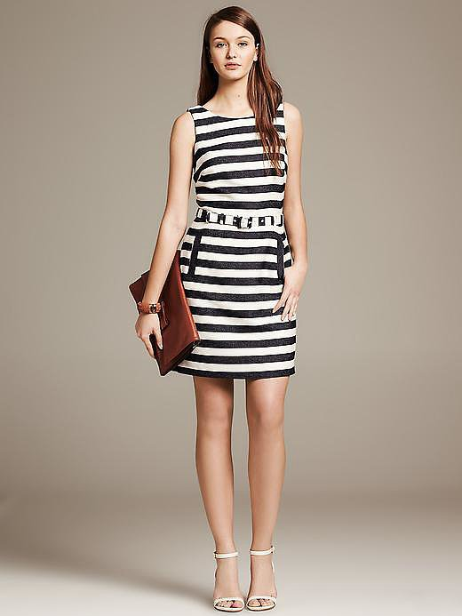 Banana Republic Striped Sheath