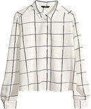 H&M Windowpane-Print Blouse