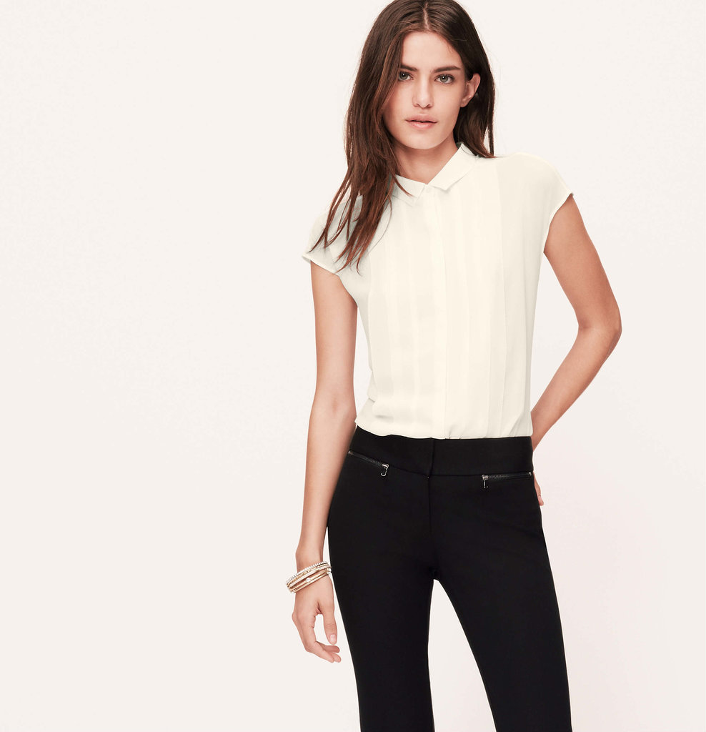Loft Pleated Blouse