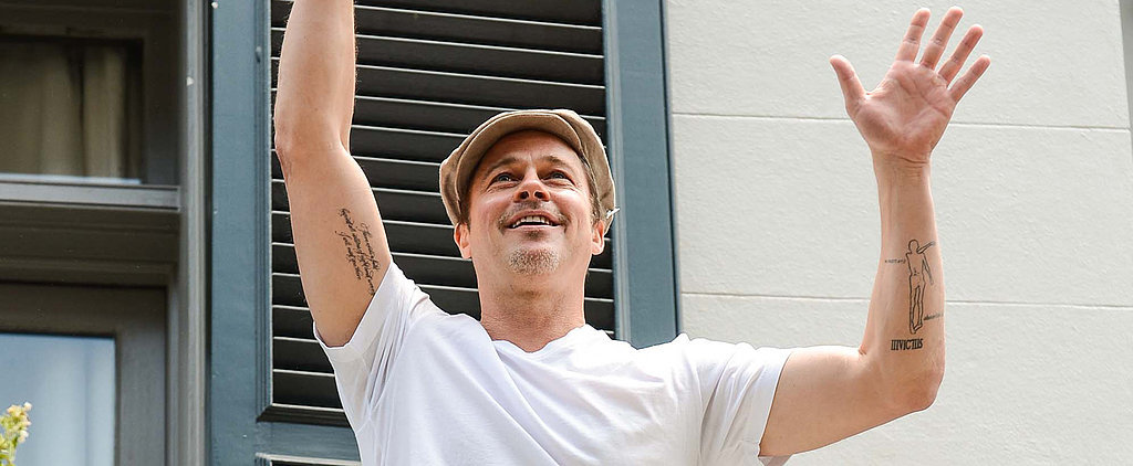 Brad Pitt Shows Off Serious New Stomach Ink