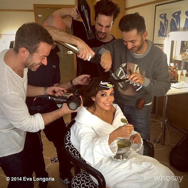 Eva Longoria got glammed up. Source: Instagram user evalongoria