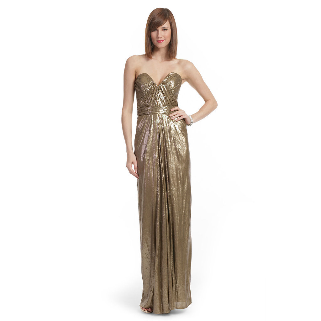 Gold floor-length gown