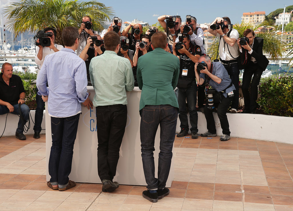 The Rover's Guy Pearce, David Michod, and Robert Pattinson posed for pictures at the film's daytime photocall.