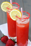 Sparking Strawberry Lemonade