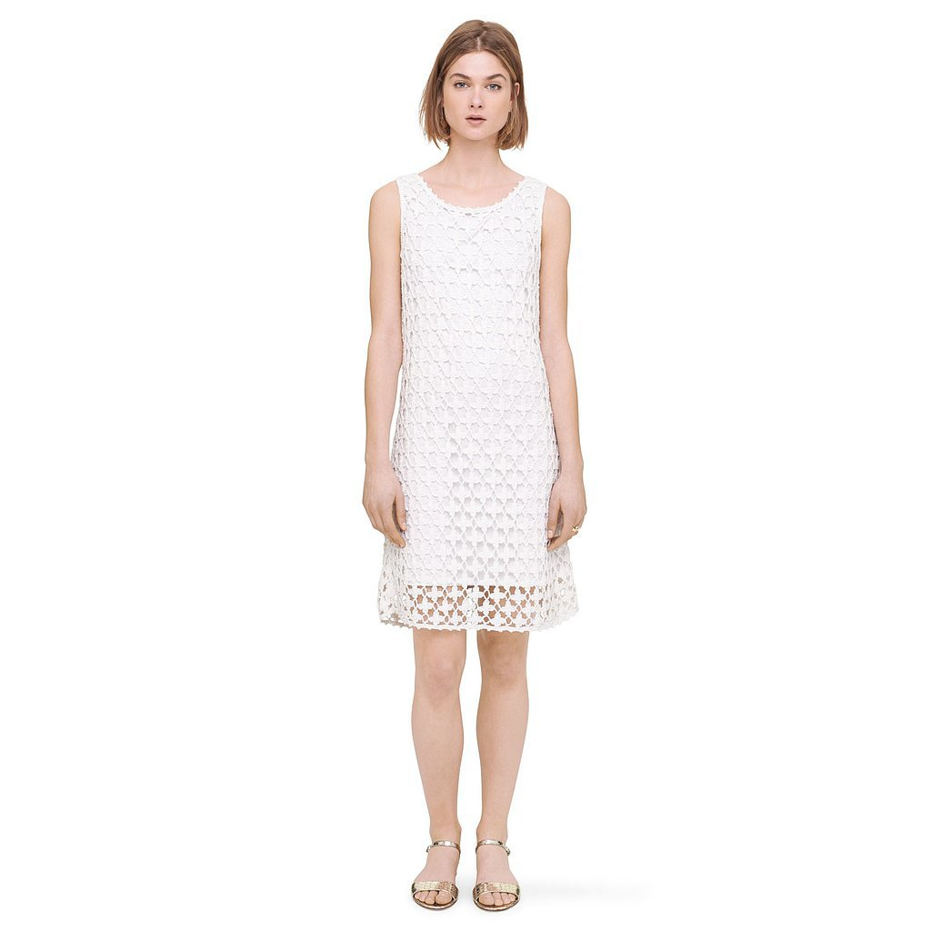 Club Monaco White Crochet Dress