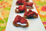Cranberry, Pear, and Orange Crostini