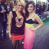 Lucy Hale met one of her favorite musicians Miranda Lambert at the Billboard Music Awards. Source: Instagram user lucyhale