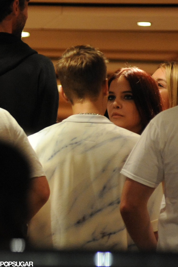 Justin and Barbara Palvin talked.