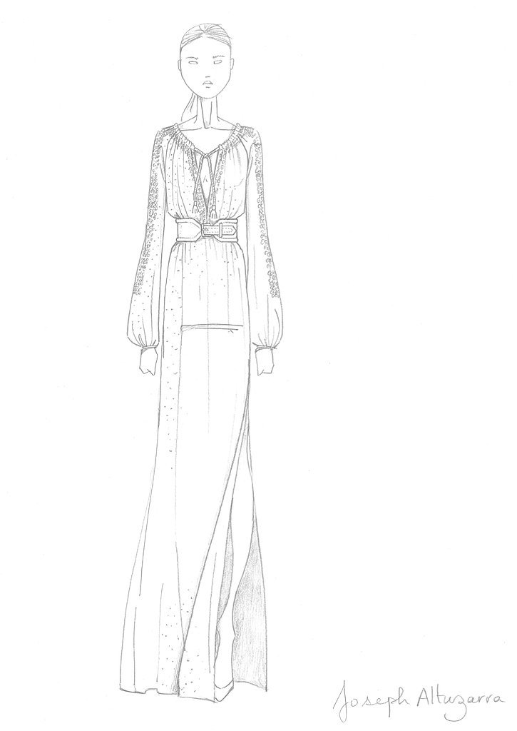 Altuzarra For Target Project Dream Maxi Swiss Dot Sketch