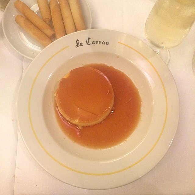 After catching a screening of Maps to the Stars, we capped off the evening with a French treat: crème caramel.