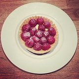 We couldn't resist another tart photo: this time, a raspberry version from France's answer to Target, Monoprix.