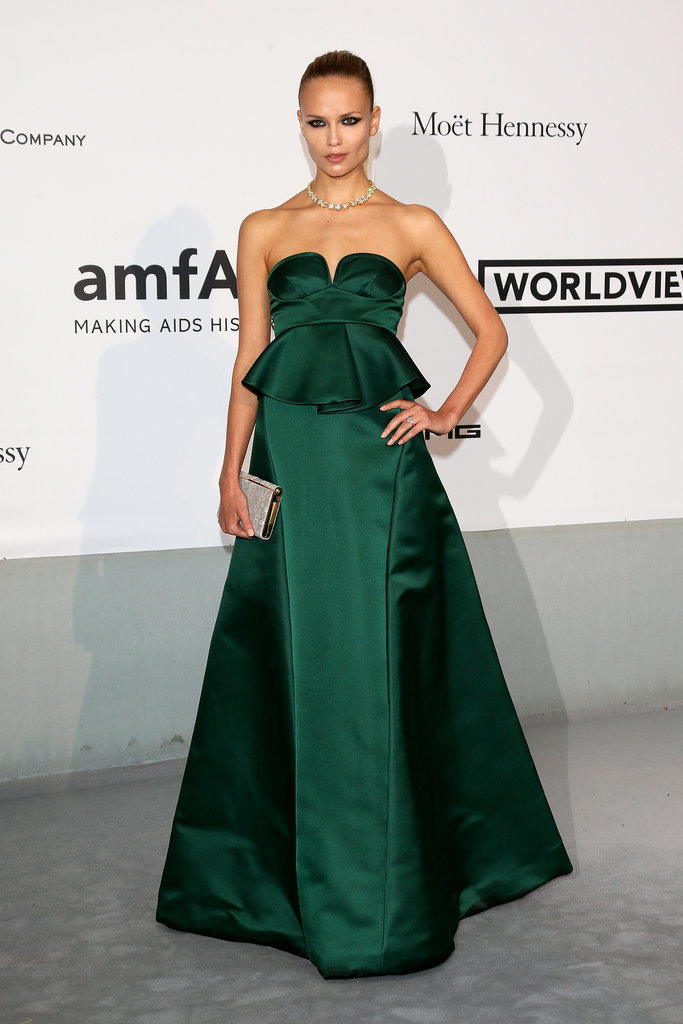 Natasha Poly looked gorgeous in green.