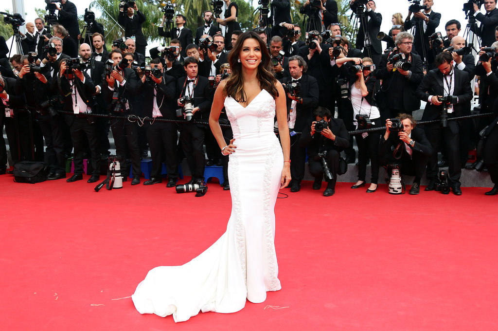 Eva Longoria looked glam for the cameras.