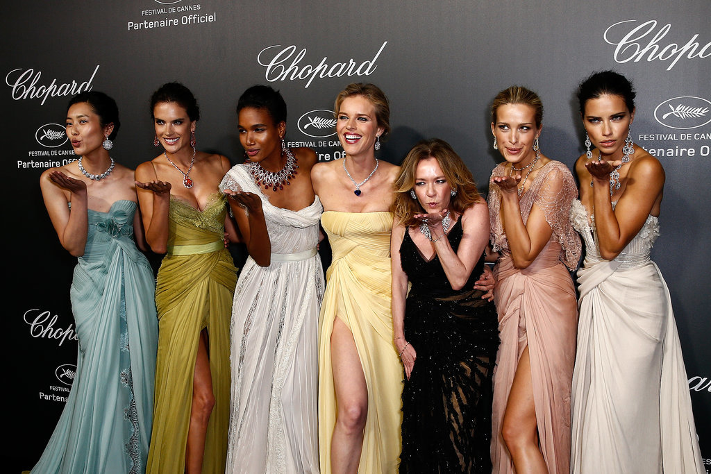 Stunning stars, including Adriana Lima and Alessandra Ambrosio, gathered on the red carpet at a Chopard event.
