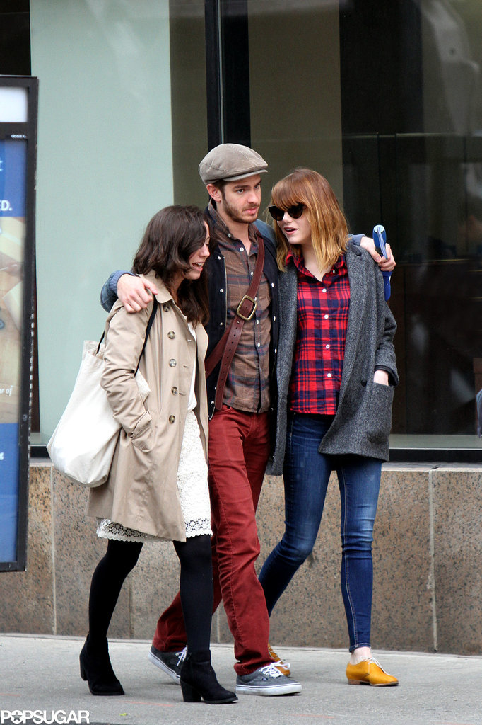Emma and Andrew showed PDA while out with a friend on Thursday.