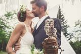 This Wedding Had a Real Owl as the Ring Bearer
