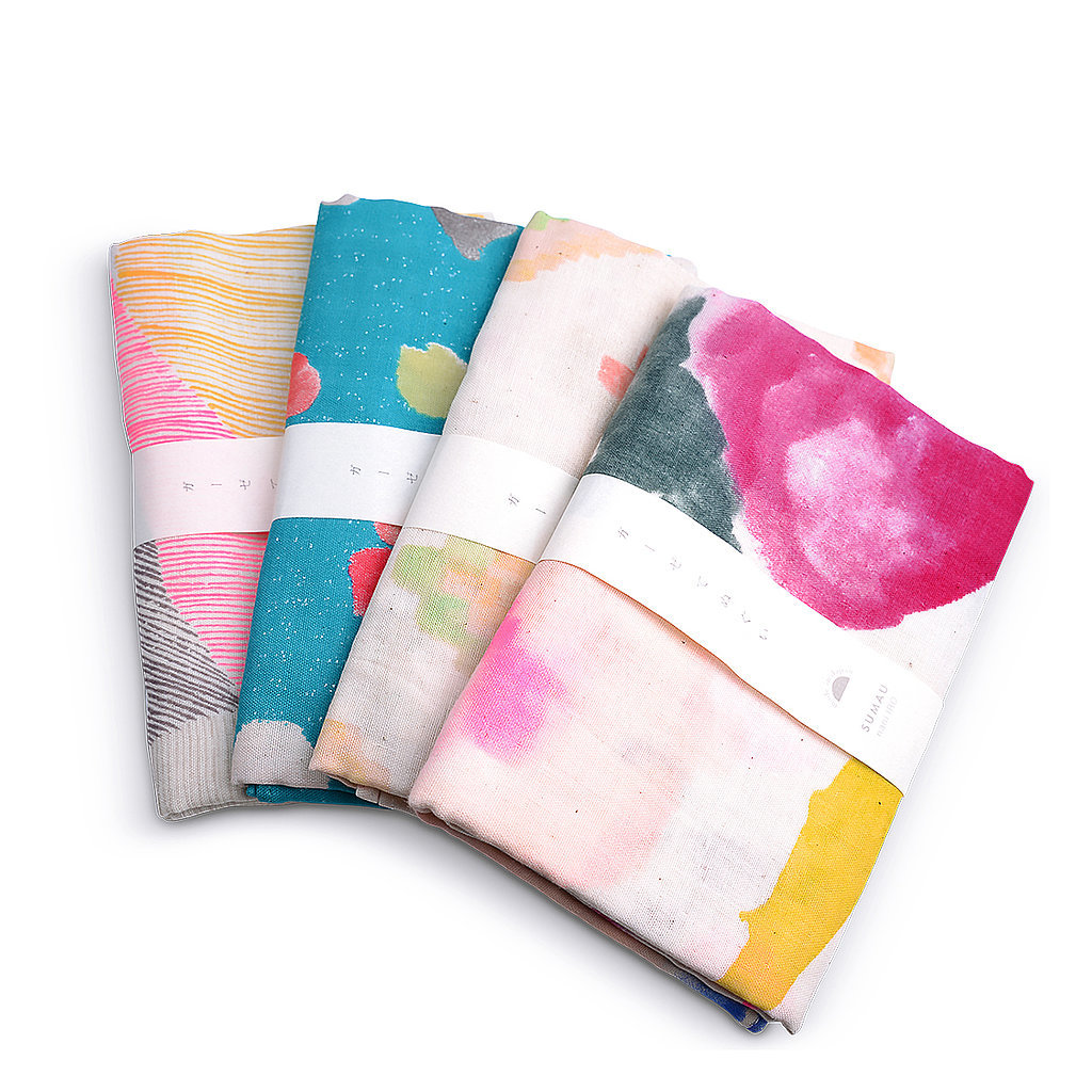 Give your kitchen an artsy vibe with these watercolor tea towels ($13).
