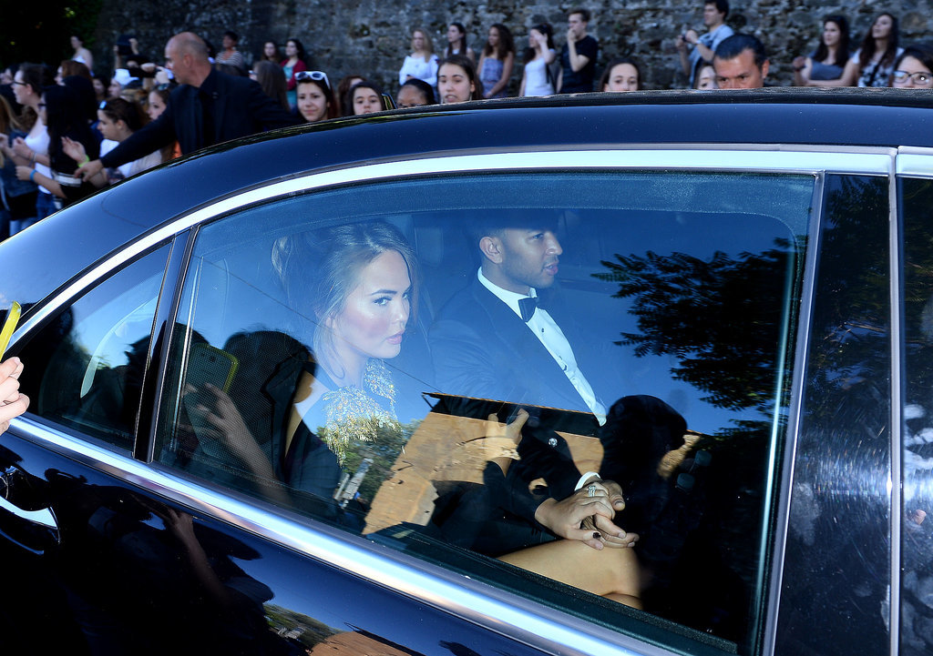 Chrissy Teigen and John Legend arrived for the ceremony.