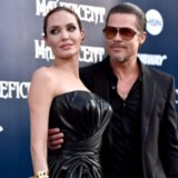 Angelina Jolie and Brad Pitt at Maleficent LA Premiere