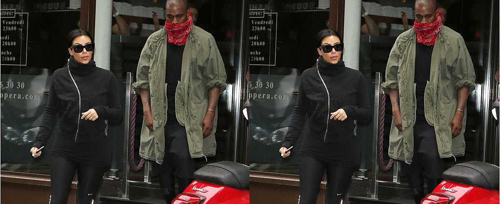 Newlyweds Kim Kardashian and Kayne West Sweat It Out Together