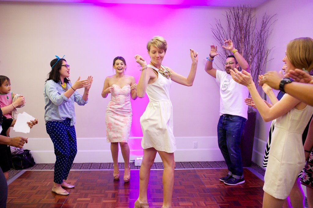 The vendors had a dance-off. Photo by Ettevy Photography