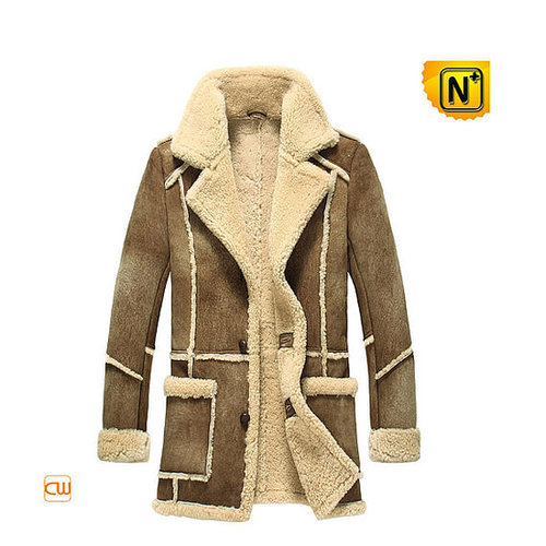 Sheepskin Mens Leather Coat CW878127