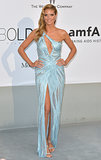 Heidi Klum in a Blue Atelier Versace at the 2014 amfAR Gala