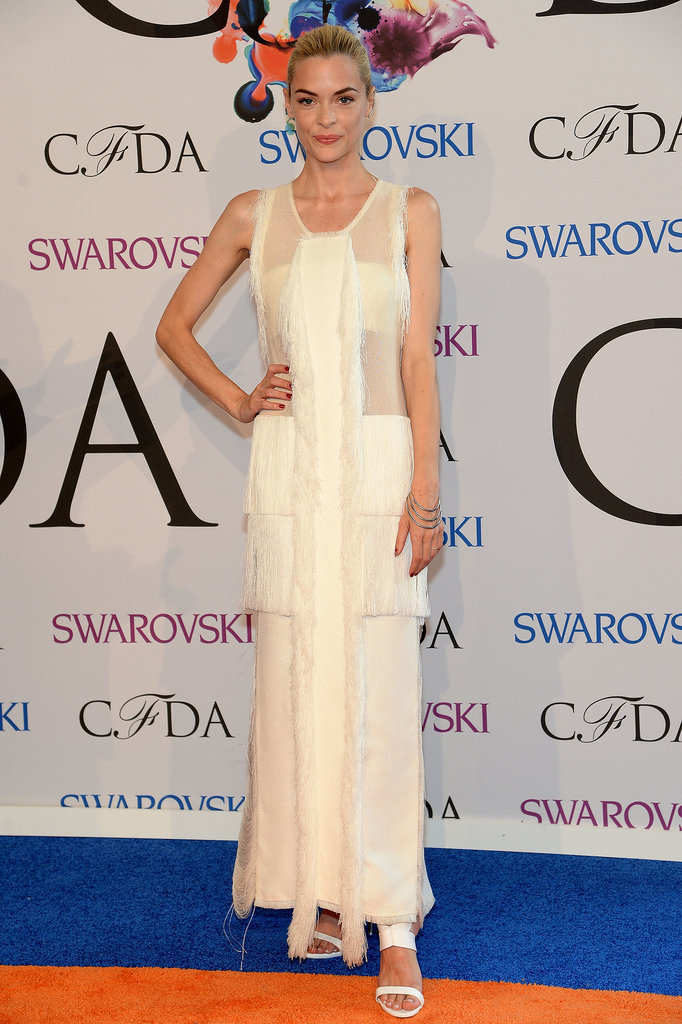 Jaime King wore white.